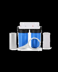 "Dual 10"" Big Blue Water Filter System w/Bracket (4.5"" x 10"")"