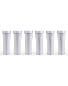 Pack of 6: White Filter Housing Sump for Reverse Osmosis Water Filtration Systems