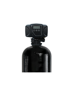 """2.0 Cubic Ft. pH Water Filter Backwash System with Fleck 5600 SXT Digital  Control Head Acid Neutralizer with Calcite   12"""" x 52"""""""