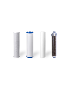 "Standard Replacement Water Pre-filters for 10"" Housing: Sediment, Carbon Block, GAC + DI Resin Inline Filter"