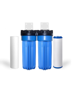 "2 STAGE WHOLE HOUSE WATER FILTER SYSTEM 3/4"" FPNT  
