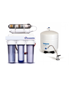 6 Stage Alkaline Reverse Osmosis Drinking Water Filtration System 50 GPD   Permeate Pump, RO pH Alkaline Mineral Filter, Tank - CLEAR
