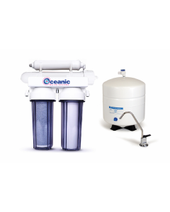 4 Stage: Complete Home Reverse Osmosis Drinking Water Filtration System 50 GPD - Clear