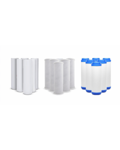 Pack of 18: Replacement Pre-Filters for Reverse Osmosis Water Filtration Systems - Sediment, Carbon, GAC