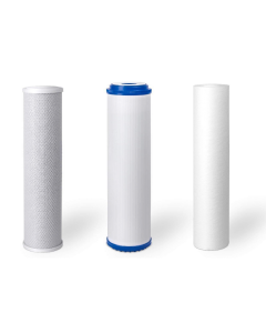 """Standard Replacement Water Pre-filters for 10"""" Housing: Sediment, Carbon Block, GAC/KDF55"""