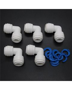 """Union Equal Elbow - Tube OD 1/4"""" x 1/4"""" for Reverse Osmosis Applications (Pack of 5)"""